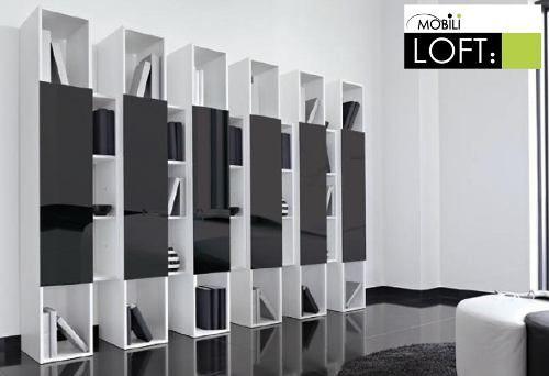 Libreros minimalistas m b pinterest for Muebles oficina wks