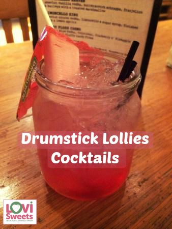 This week's retro sweets recipe is for drumstick lollies cocktails. They're totally fabulous, easy to make and very sweet!