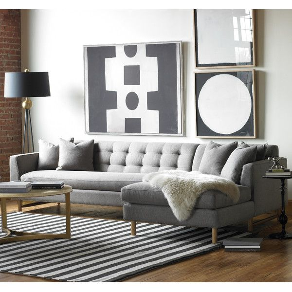 DwellStudio Edward Right Arm Chaise Sectional Sofa @dwellstudio