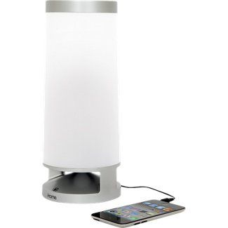 IHome Speaker With LED Dimmable Table Lamp IPad/iPod/iPhone Silver IHome.