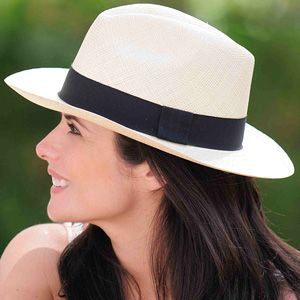 nice Panama Hat Fedora White - Gamboa Classic for Women...