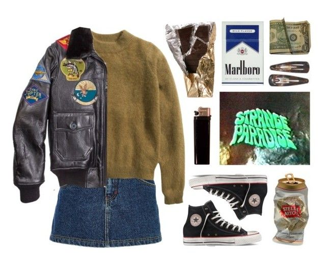 """Strange Paradise"" by junk-food ❤ liked on Polyvore featuring River Island, H&M, Converse and GAS Jeans"