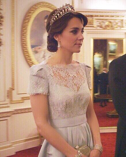 "Glimpses of the Duchess of Cambridge at the Diplomatic Reception from the ITV documentary ""Our Queen at 90."""
