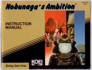 Nobunaga's Ambition - NES Manual