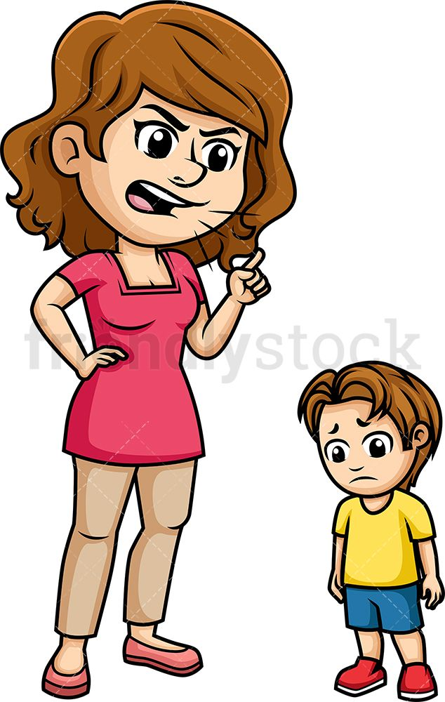 Mom Scolding Her Child Cartoon Vector Clipart Friendlystock Children Illustration Cartoon Kids Cartoon Clip Art