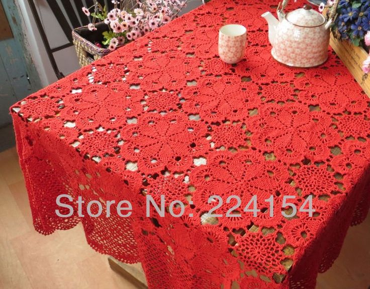 Aliexpress.com : Buy 170x240 CM handmade crochet Red tablecloth for wedding decoration  ~ FREE SHIPPING from Reliable handmade tablecloth suppliers on Handmade Shop $128.00