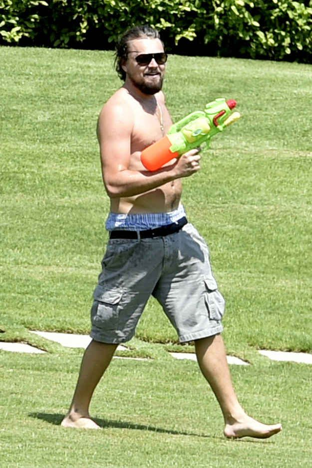 I mean, there was speed walking and heavy weaponry involved.   Leonardo DiCaprio's Intense Watergun Fight Is Actually Why Waterguns Were Invented