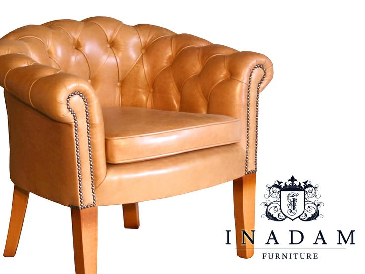 Classic English Tub Chairs And Traditional Leather Chesterfield Upholstery,  Handmade In England And Supplied By