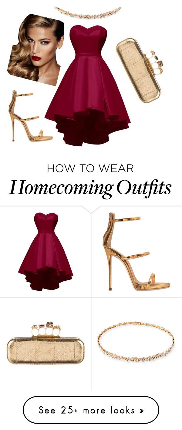 """Untitled #256"" by geminikill on Polyvore featuring Suzanne Kalan, Giuseppe Zanotti, Alexander McQueen and Charlotte Tilbury"