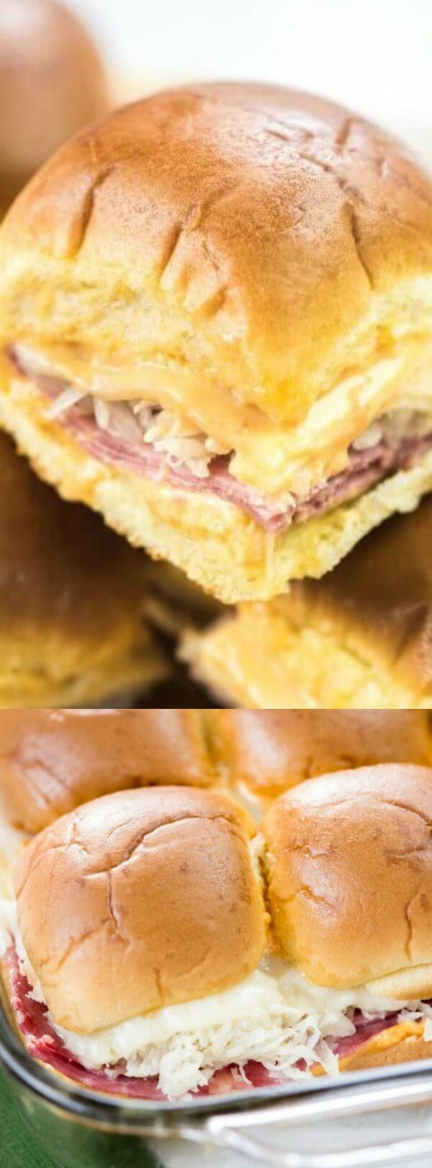 These Baked Reuben Sliders from Real Housemoms are an absolutely delicious idea for any get together or even a quick, warm lunch.