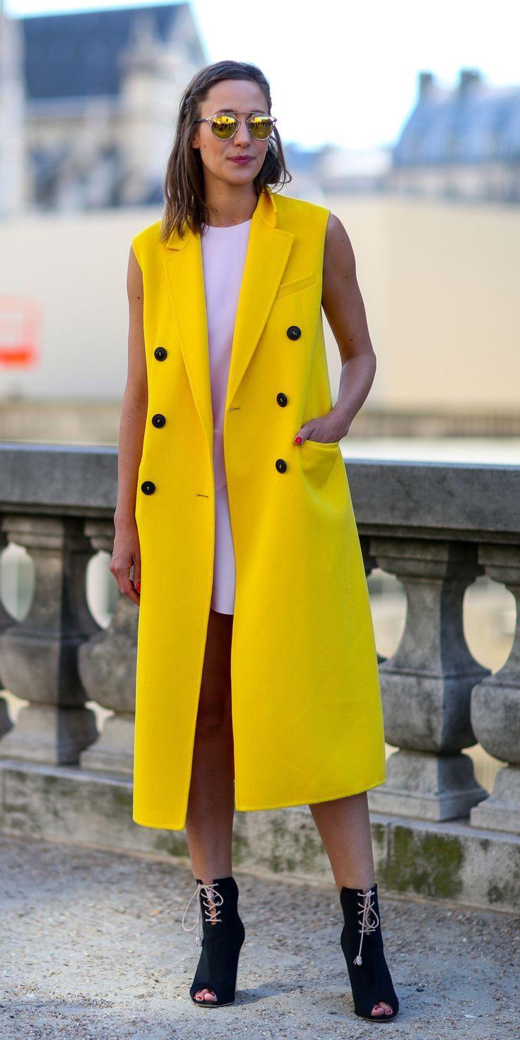 Manteau jaune - The Shoppeuse