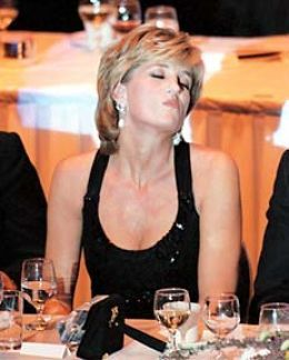 What thoughts were in that beautiful head that night? (was given humanitarian award in NY)