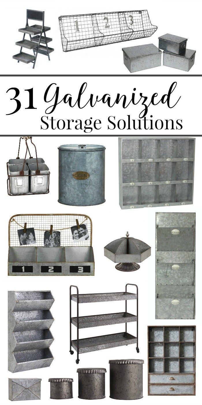 31 Galvanized Storage Solutions Farmhouse DecorFarmhouse IdeasFarmhouse Office