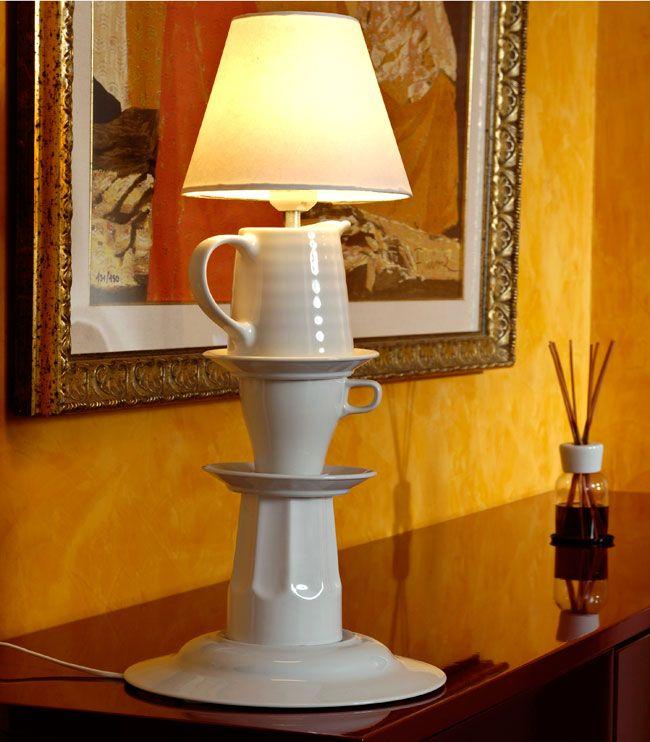 Abat-jour con le ceramiche , abat-jour fai da te, abat jour fai da te, lampade fai da te, lampada fai da te