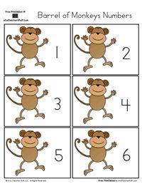Barrel of Monkeys Numbers 0 to 31 | A to Z Teacher Stuff