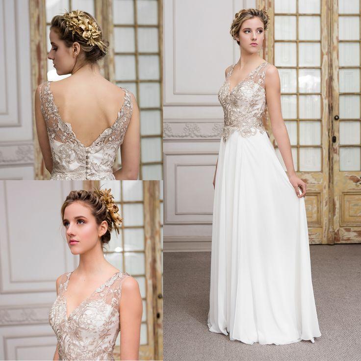 vestido de novia griego escote v de macrame · Greek wedding dress v neck of macrame - www.santoencanto.cl/vestidos-de-novia/