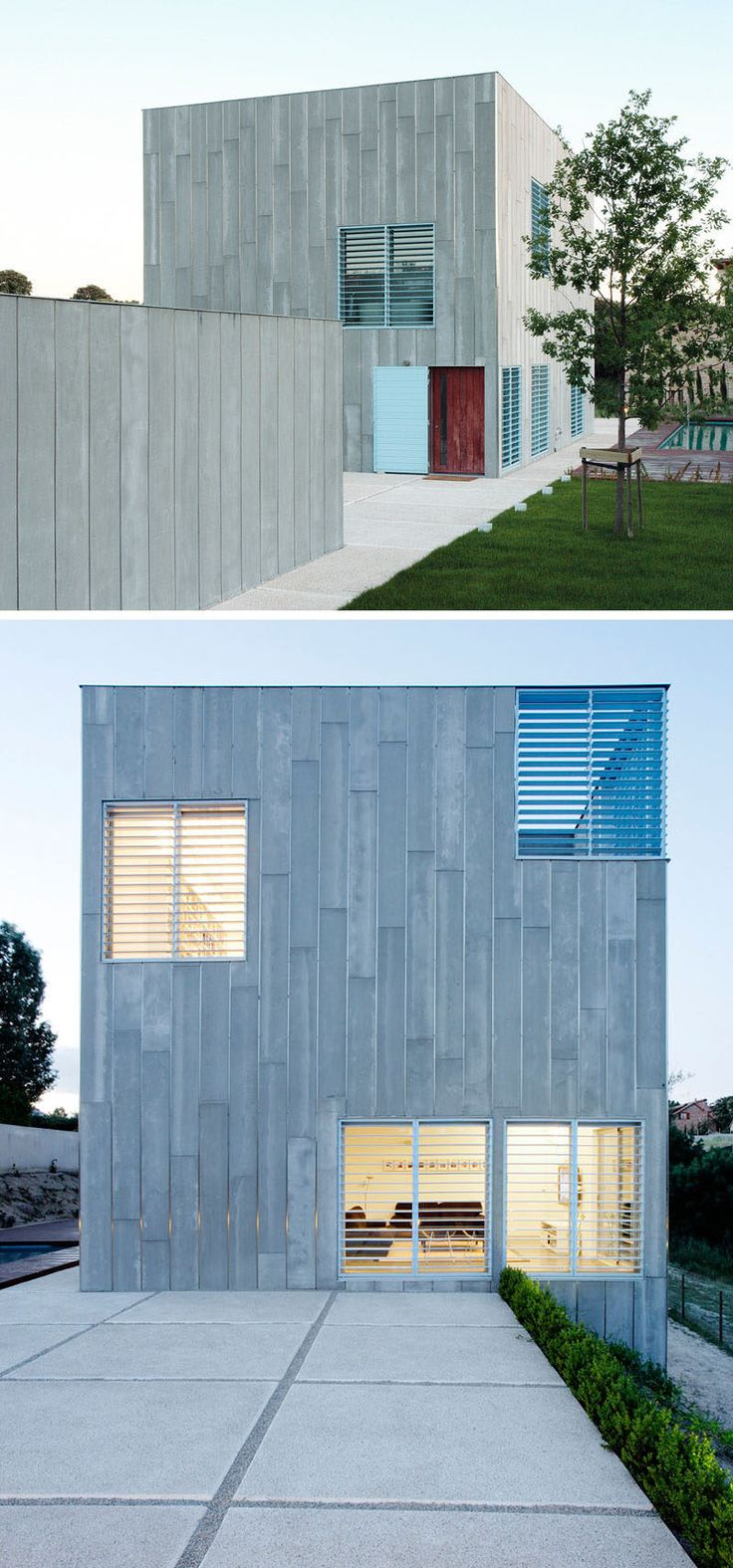 Modern mansion exterior - 12 Minimalist Modern House Exteriors Grey Siding Covers This Exterior Of This Home That