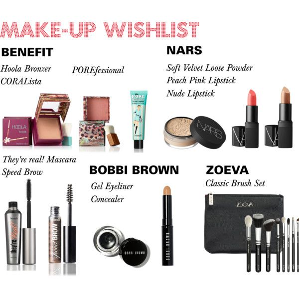Makeup wishlist by lifefullofserendipity on Polyvore featuring beauty, Benefit, NARS Cosmetics and Bobbi Brown Cosmetics