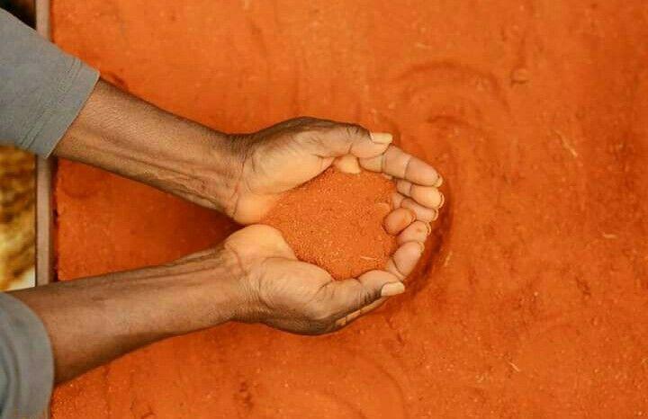 Beautiful orange sand.