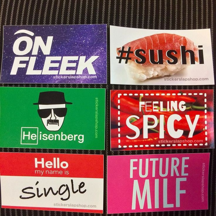 Classic Sticker Collection! We will be releasing large regular and small sized random sticker packs very soon! Great opportunity to get some random stickers and save 33%!  #omg #onfleek #sushi #heisenberg #hello #adele #single #taken #spicy #feel #milf #future #cool #color #colorful #instacool #instagood #instalike #instalove #instamood #sticker #stickers #stickerart #stickerbomb #stickerline #stickerporn #stickermurah #stickerslap #obey #banksy