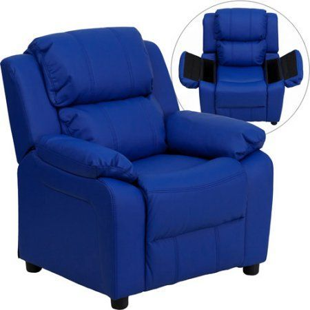 Flash Furniture Kids' Vinyl Recliner with Storage Arms, Multiple Colors…