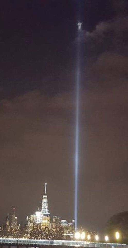 The figure is now being dubbed the angel of the World Trade Center  Looks fake…