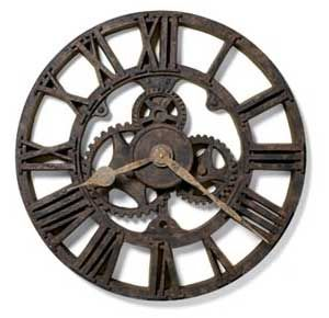 Unique Wall Clock   Cogs   Black   Vintage Industrial Clocks   Metal   Original Timepiece   Inspirational Interior Design   Warehouse Home Design Magazine