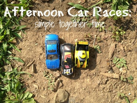 Guest Post ~ Afternoon Car Races: Simple Together Time | One Perfect Day