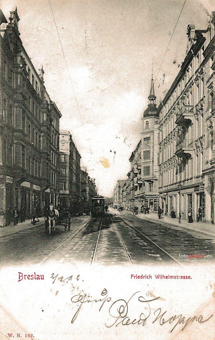 Lata 1900-1910 , Friedrich Wilhelm Strasse. legnicka