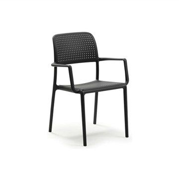 Livorno Arm Chair in Anthracite | Livingstyles