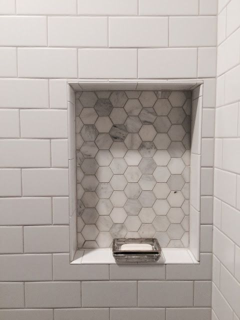 Modern Chic Farmhouse Bathroom. White Subway Tile…