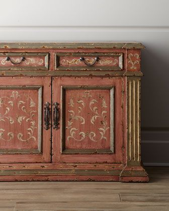Lovely color and paint style to mimic on this Kaylen Chest, or it can be found at  at Horchow.
