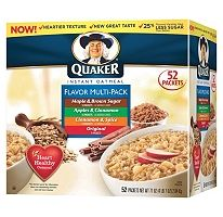 Quaker® Instant Oatmeal Variety Pack - 52 ct. $.18 a pack no shipping Sams club