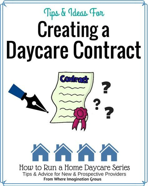 1000 ideas about daycare contract on pinterest home