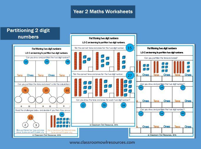 Partitioning 2 Digit Numbers Worksheets Ks1 Maths Worksheets Year 2 Maths Worksheets Math Worksheet