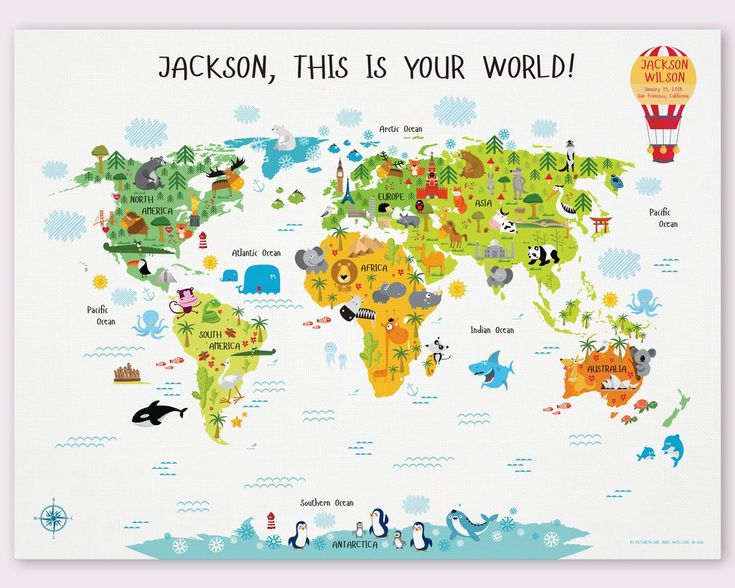 Best 25 kids world map ideas on pinterest world map design personalized world map for children personalized baby gifts gumiabroncs Images