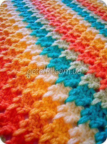 Интересный многоцветный узор