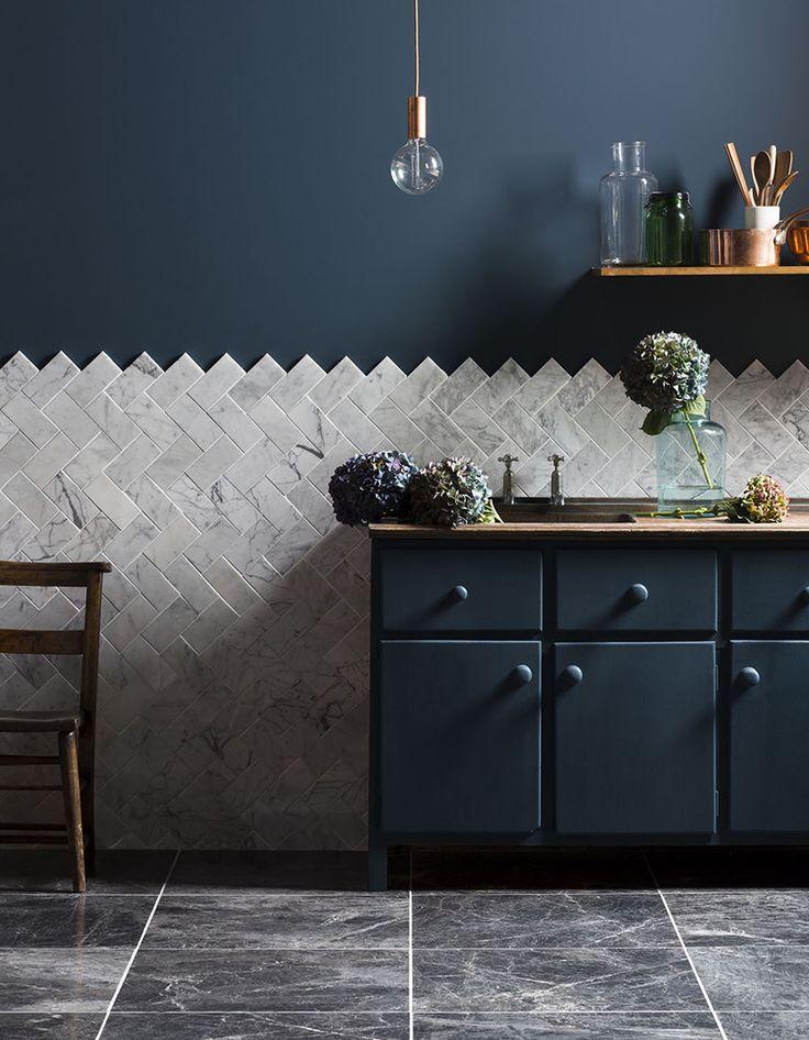 Les Meilleures Idées De La Catégorie Peinture Pour Carrelage - Carrelage bleu pour idees de deco de cuisine