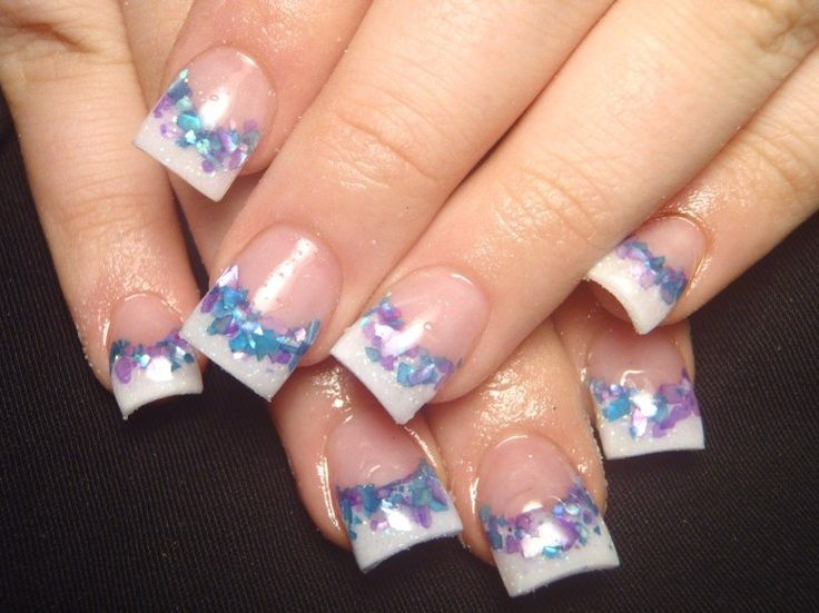 french manicure designs | TaLlUlAhKaTe: Colorful French Nail Art Designs 2011
