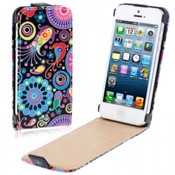 Colourful Pattern iPhone Leather Case