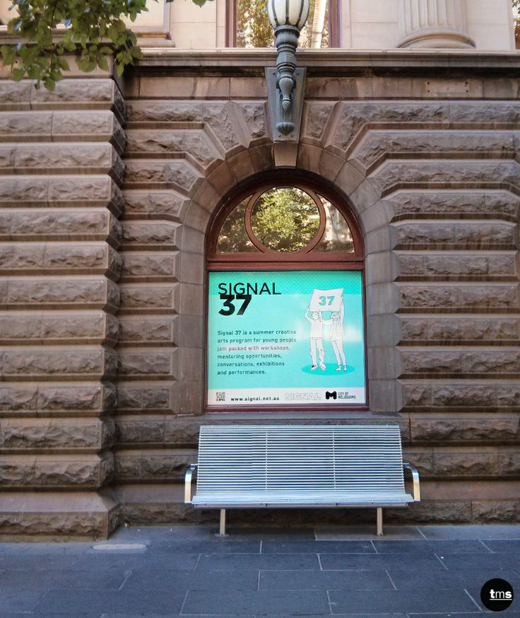 City Gallery, Melbourne Town Hall, Printed Window Decal, Signal 37, Event Promotion #windowdecal #Melbourne