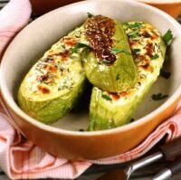 zucchini stuffed with cheese