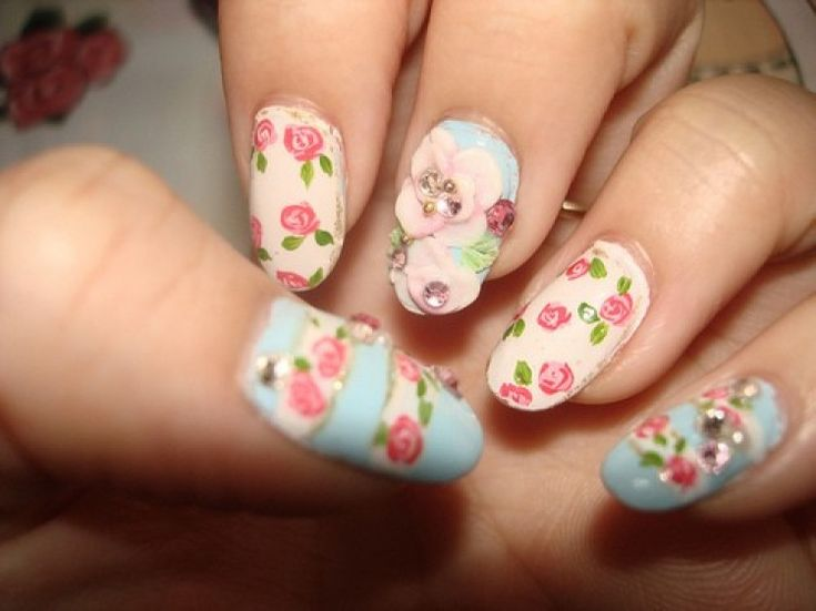 13 best nail art board images on pinterest art boards beauty 34 beautiful pastel nail designs with flowers prinsesfo Choice Image