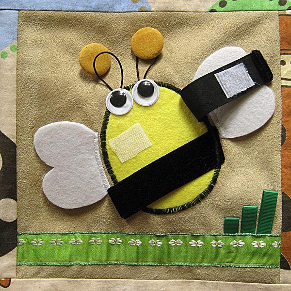 książeczka edukacyjna пчела  bee velcro