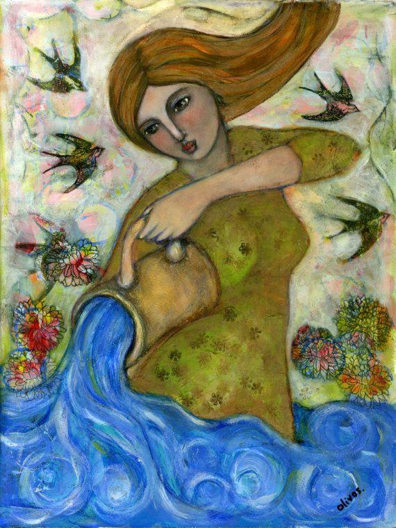 Healing Gifts for women  Celtic Goddess  Goddess Art