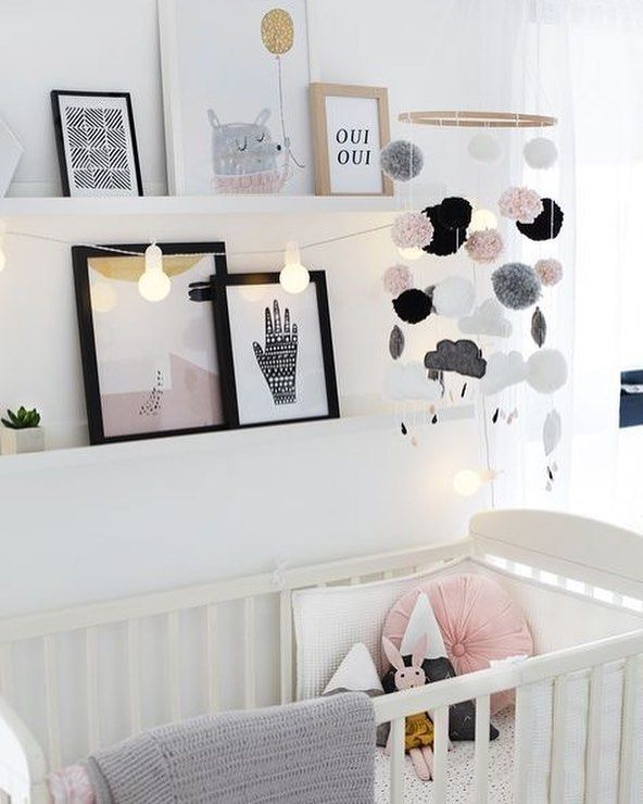 Pinterest Baby Kids Love Kinderzimmer Kidsinterior Kidsro White Nursery Decor Girl Nursery Room Baby Girl Nursery Room