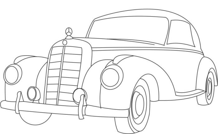 mercedes classic coloring page