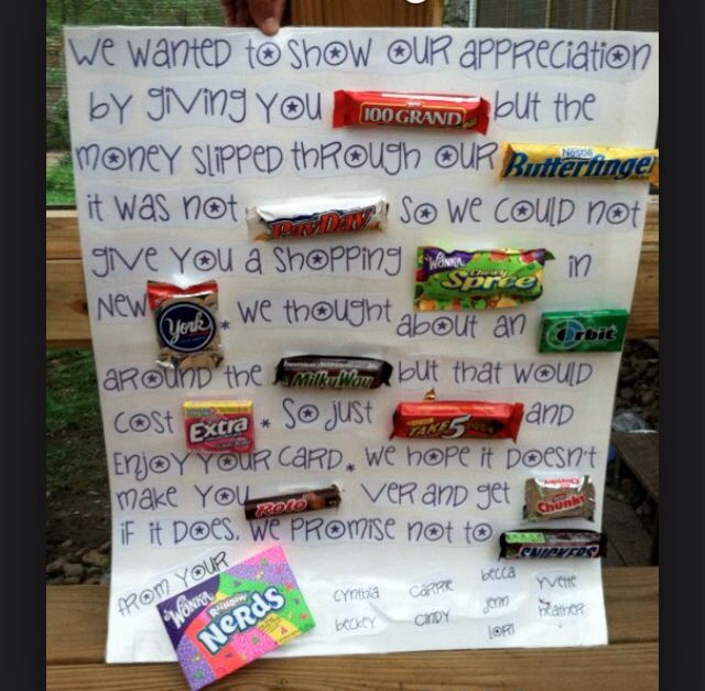 Best 25 Candy Letters Ideas On Pinterest Candy Card