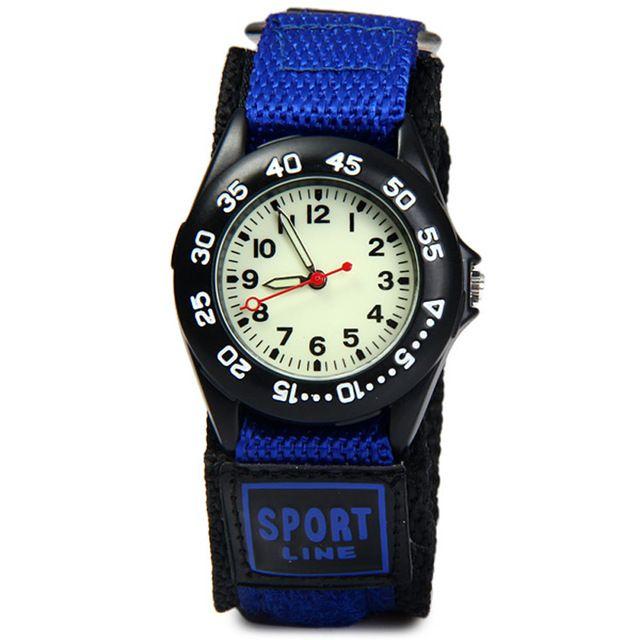 Studenten Sport Horloges Nieuwe Collectie Stof Strap Klimmen Militaire Quartz Horloges Waterdichte Sterke Lichtgevende Kids Horloges