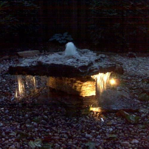 22 best water fountains images on pinterest garden fountains pond lighting creates a special mood when used with ponds waterfalls and fountains by mozeypictures Images